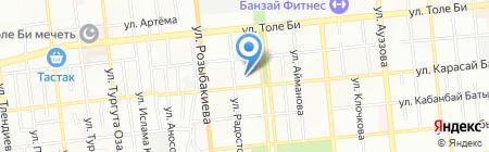 Рахат продуктовый магазин на карте Алматы