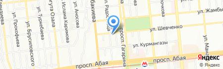 Алматинский колледж полиграфии на карте Алматы