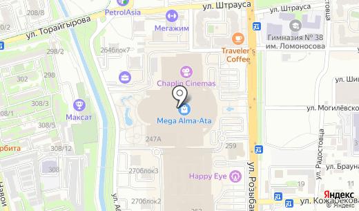 GAP. Схема проезда в Алматы