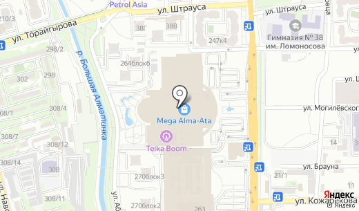 Cup of Cake. Схема проезда в Алматы
