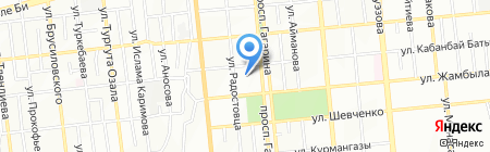 Нотариус Аюханова Г.Б. на карте Алматы