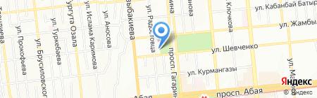 Асико на карте Алматы