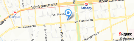 Медея на карте Алматы