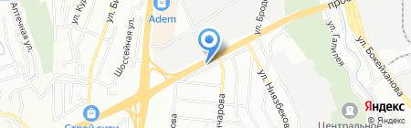 Устам на карте Алматы