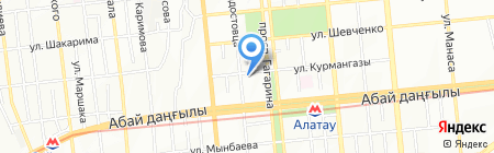 Нотариус Ахметжанова А.К. на карте Алматы