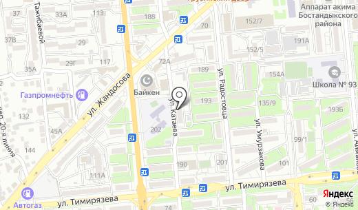 NPV. Схема проезда в Алматы