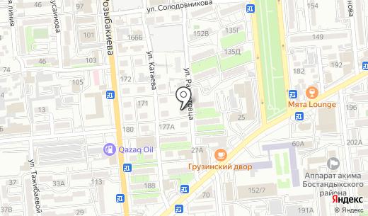 Матай. Схема проезда в Алматы