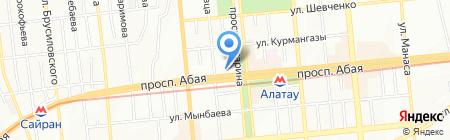 Глобус на карте Алматы