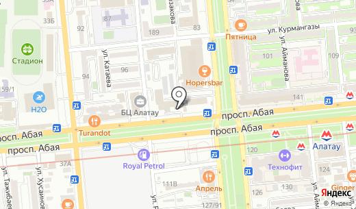 Дайк-Пресс ТОО. Схема проезда в Алматы