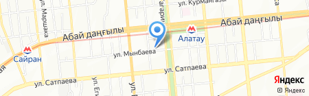 Солнышко на карте Алматы
