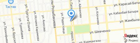 Американка на карте Алматы