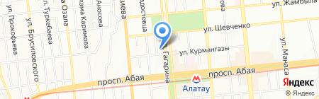 Grafica на карте Алматы