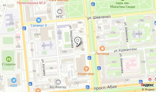 Chernila. Схема проезда в Алматы