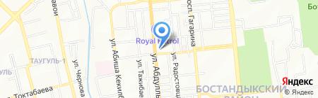 Автоглобус на карте Алматы