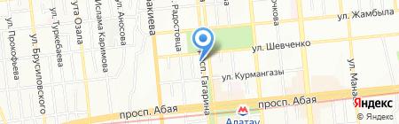 Анелик на карте Алматы