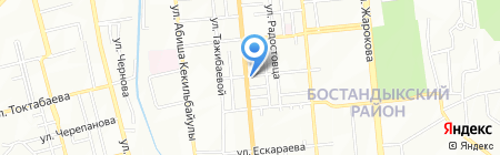 Crystal автомойка на карте Алматы