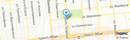 Mega на карте Алматы