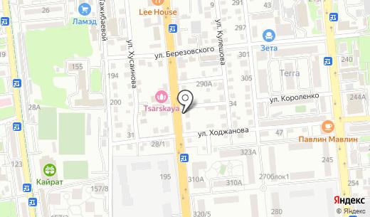 Торговая компания. Схема проезда в Алматы