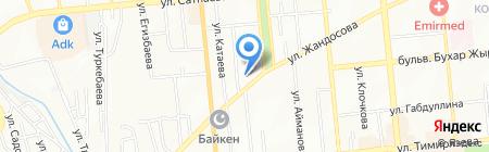 Лаура на карте Алматы