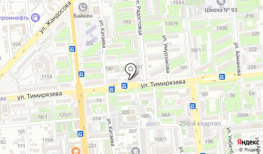 Камкор. Схема проезда в Алматы
