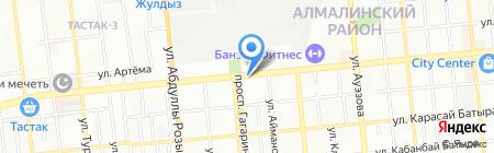 Аквависта торгово-производственная компания на карте Алматы