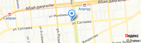 Школа-гимназия №22 на карте Алматы
