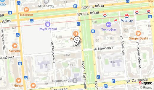 Da-Store. Схема проезда в Алматы