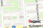 Схема проезда до компании Автор мебель в Алматы