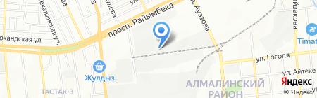 Тунгыш на карте Алматы