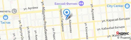 Центральная на карте Алматы