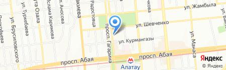 На Гагарина на карте Алматы