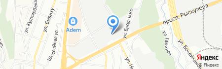 Интерэкс и Компания на карте Алматы