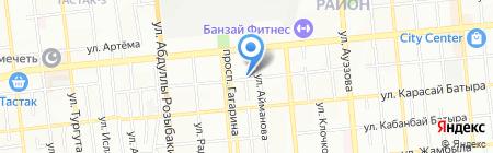 Автостоянка на ул. Богенбай батыра на карте Алматы