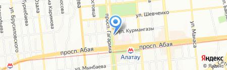 Карусель на карте Алматы