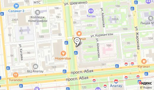 Modamania.kz. Схема проезда в Алматы