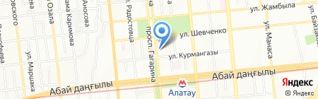 Центр технического осмотра на карте Алматы