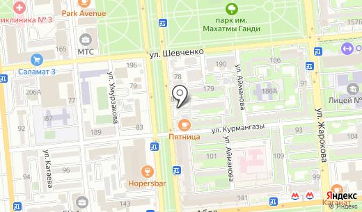 Fortex LabMed. Схема проезда в Алматы