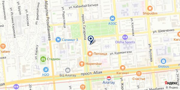 Экомед на карте Алматы