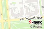 Схема проезда до компании BeautyVille в Алматы