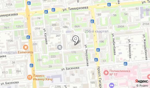 Ползунки. Схема проезда в Алматы