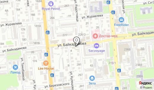Алстройпроект. Схема проезда в Алматы