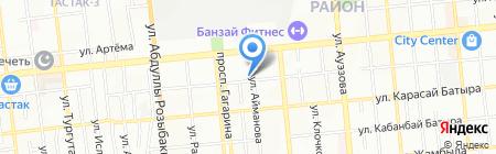 Алакай на карте Алматы