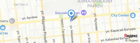 Пункт ремонта обуви на ул. Айманова на карте Алматы