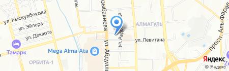 Казахстанско-Российская гимназия №38 им. М.В. Ломоносова на карте Алматы
