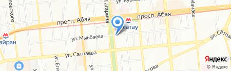 Крыша на карте Алматы