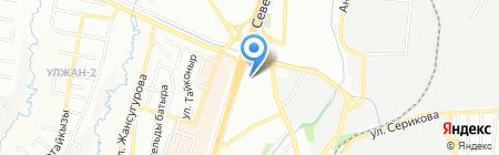 АБД на карте Алматы