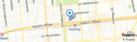 Бутик кожгалантереи и платков на карте Алматы