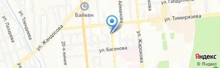 Модерн на карте Алматы