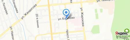 Бостандыкский районный отдел по ЧС на карте Алматы