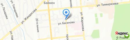 Алмир на карте Алматы
